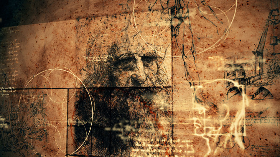 Da Vinci illustration for history of contact lenses
