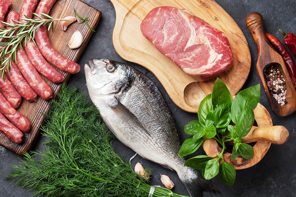 Meat and seafood contains taurine