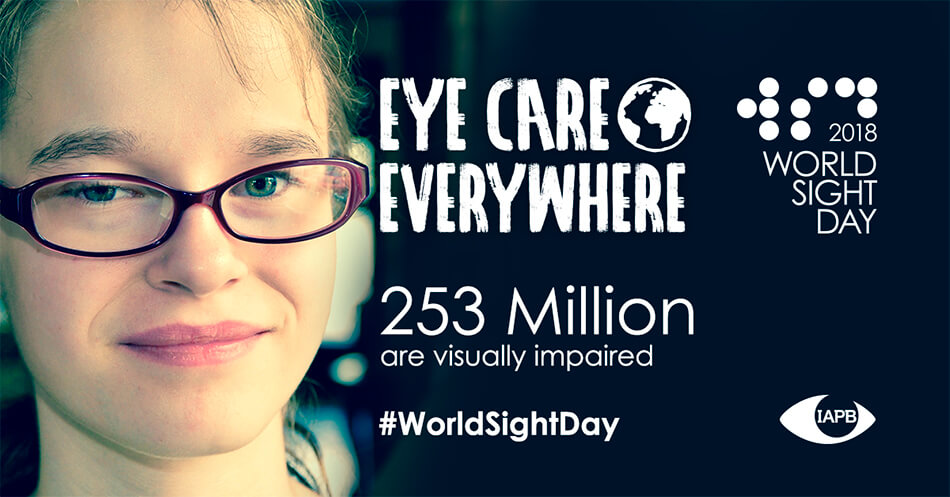 World Sight Day banner that reads 253 million people are visually impaired