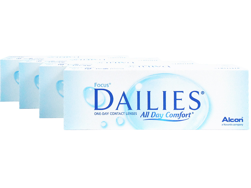 Focus Dailies 4-Box Pack (60 Pairs)