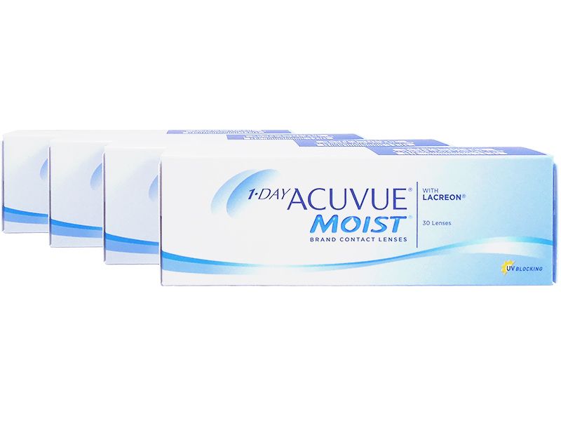 1 Day Acuvue Moist 4-Box Pack (60 Pairs)