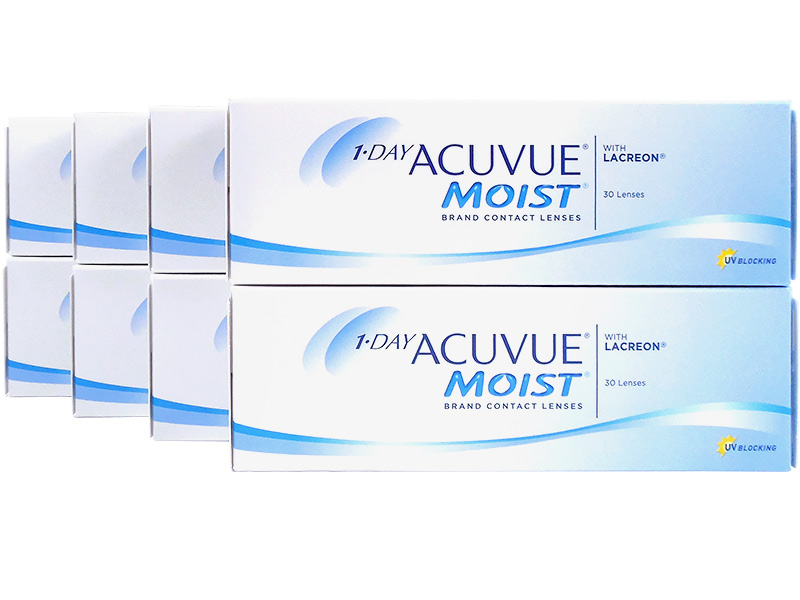 1 Day Acuvue Moist 8-Box Pack (120 Pairs)